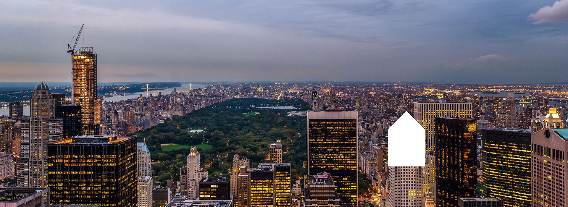 NEW YORK TRAMONTO